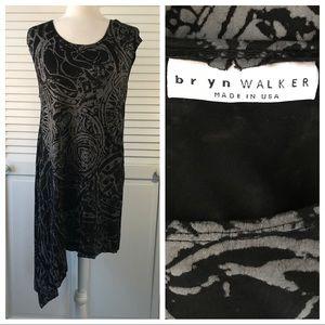 Bryn Walker Black Gray Asymmetrical Dress